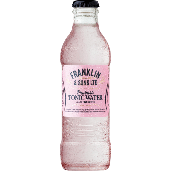 franklin rhubarb tonic with hibiscus 0 2 l