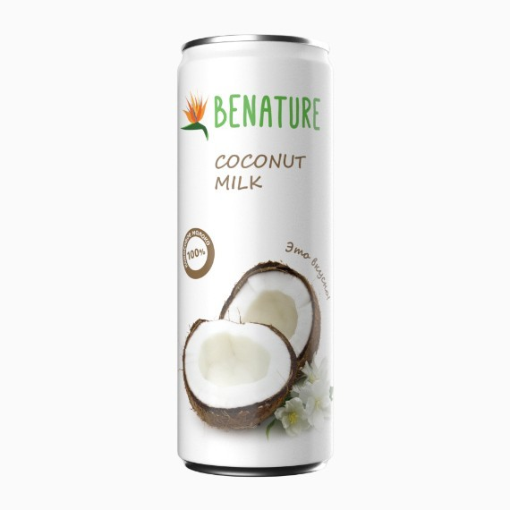 kokosovoe moloko benature 0 25 l