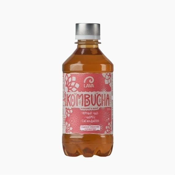 kombucha lava superfood kombucha chernyj chaj chabrec sagan dajlja 330 ml