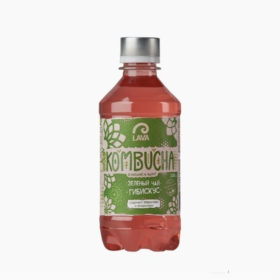kombucha lava superfood kombucha zelenyj chaj gibiskus 330 ml