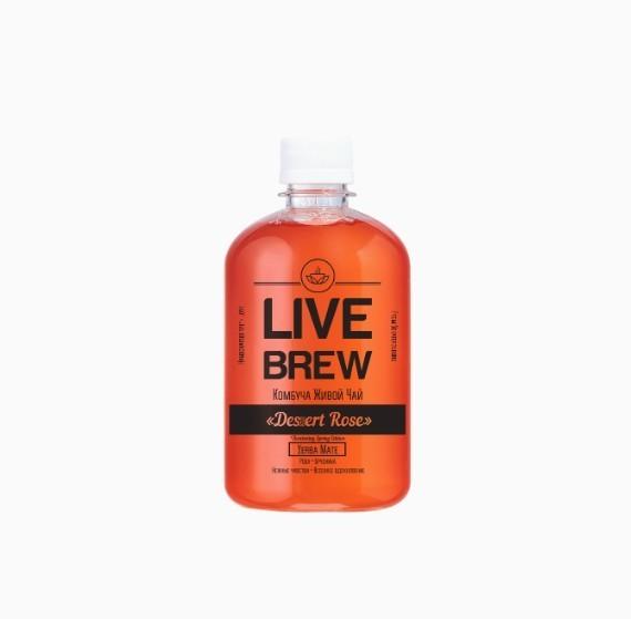 kombucha live brew desert rose 520ml