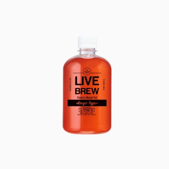 kombucha live brew ginger hype 520 ml