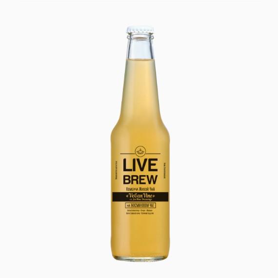 kombucha live brew vegan vine 350 ml
