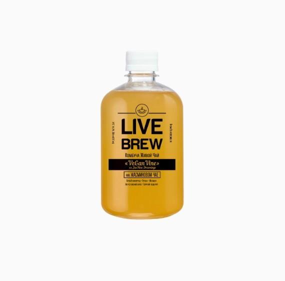 kombucha live brew vegan vine 520 ml