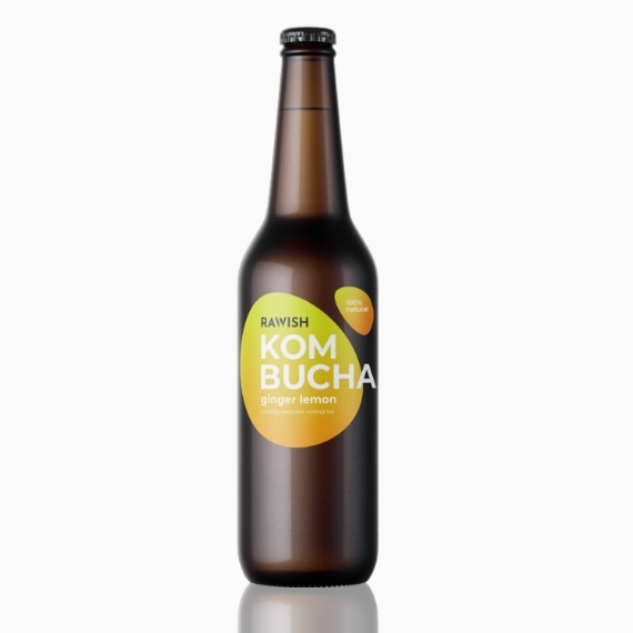 kombucha rawish ginger 330 ml