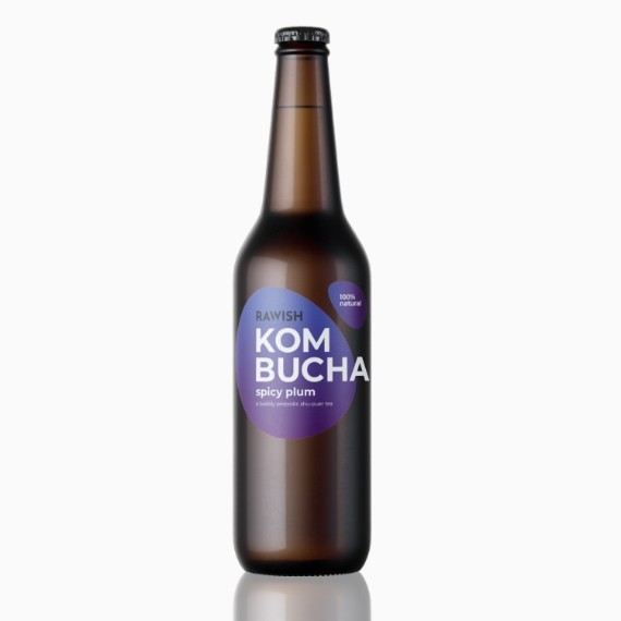 kombucha rawish spicy plum 330 ml