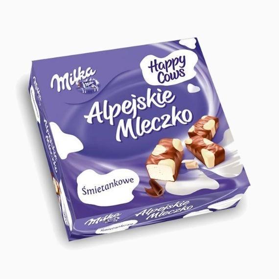 konfety sufle milka alpine milk happy cows 330 g