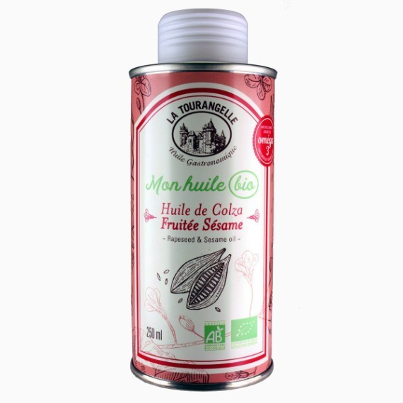 la tourangelle rapeseed and sesame oil rapsovoe maslo s organicheskim kunzhutnym maslom 250 ml