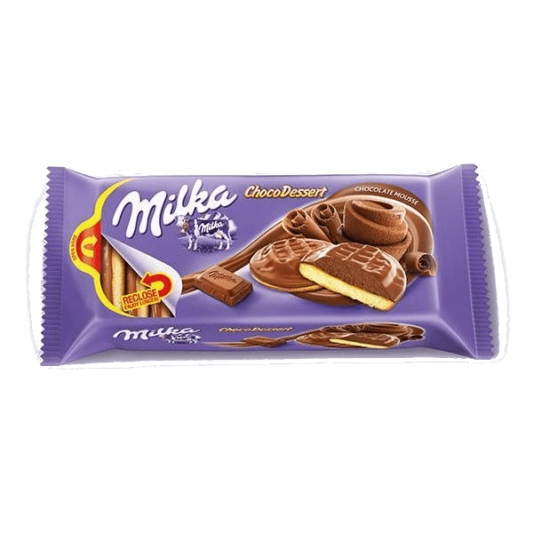 milka jaffa chocolate mousse cookies 128gr