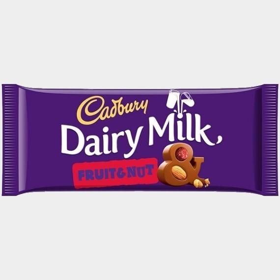molochnyj shokolad cadbury dairy milk fruit nut 200 g