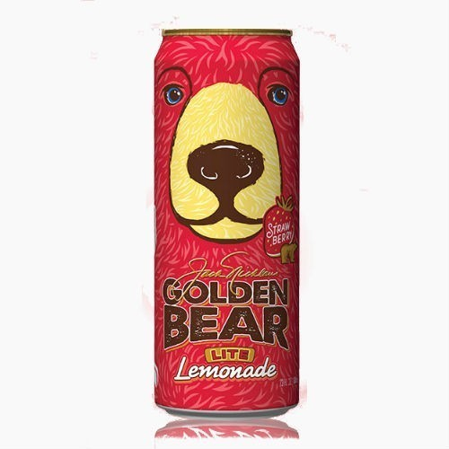 napitok arizona golden bear lite lemonade strawberry klubnika 0 68 l