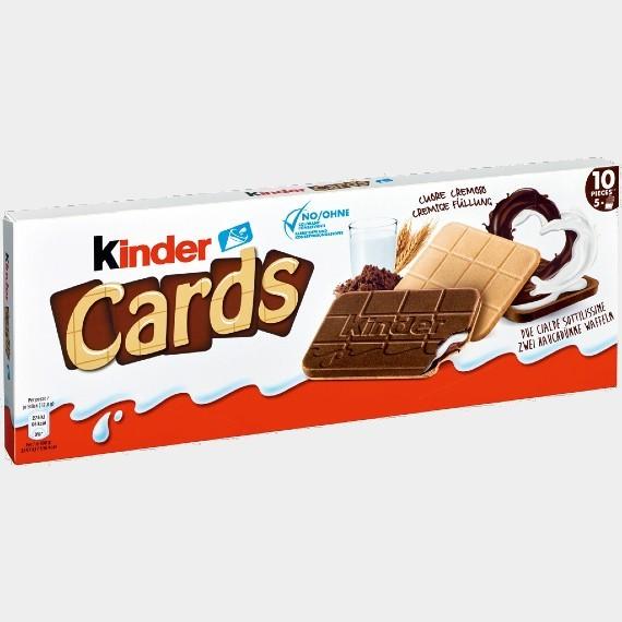shokoladno molochnoe pechene kinder cards 128 g