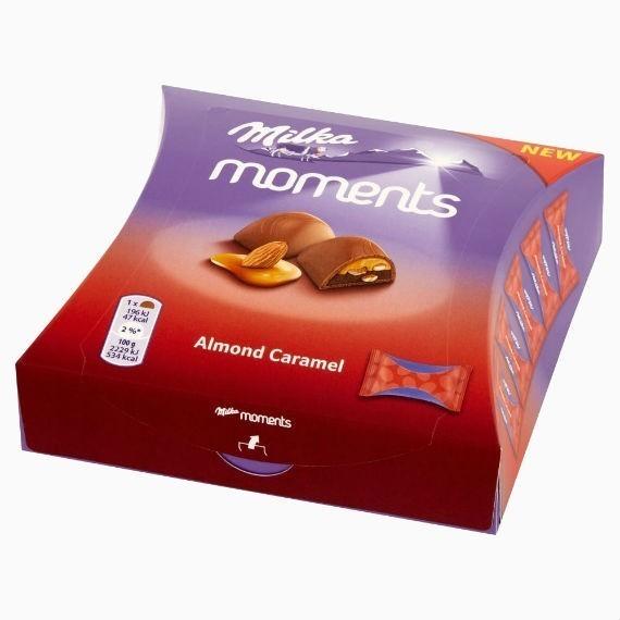 shokoladnye konfety milka moments almond caramel 96 g
