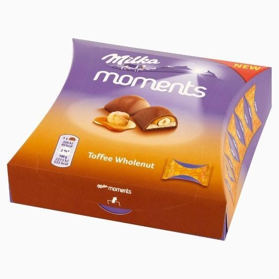 shokoladnye konfety milka moments toffee wholenut 97 g