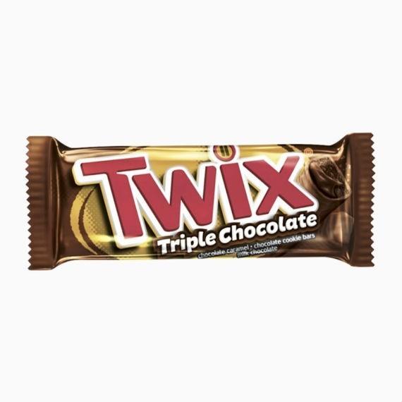 shokoladnyj batonchik twix triple chocolate 40gr
