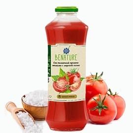 sok benature tomatnyj sok s morskoj solyu pryamogo otzhima 0 75 l