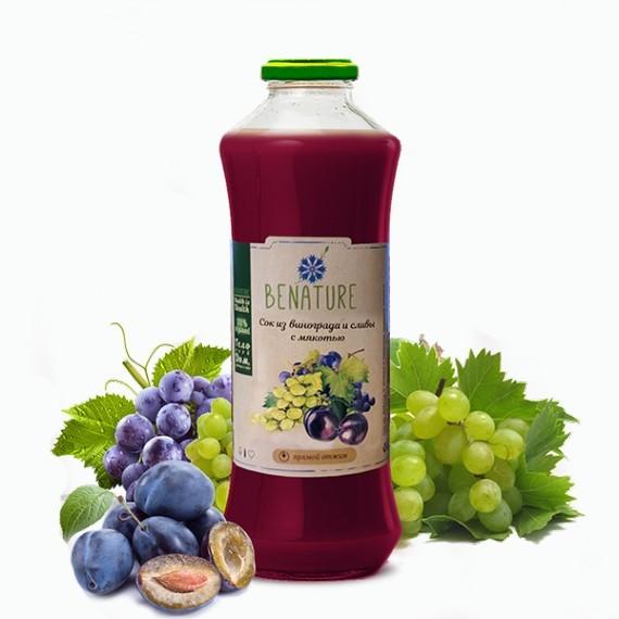 sok benature vinogradno slivovyj s myakotyu 0 75 l
