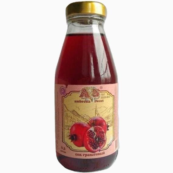 sok granatovyj ambrosia sweet 0 3 l