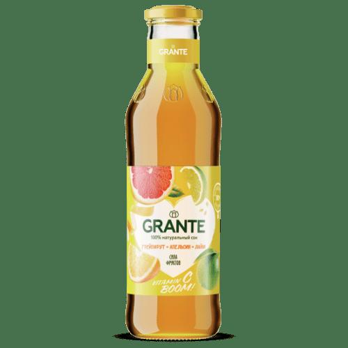 sok grante grejpfrut apelsin lajm 0 75 l