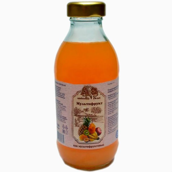 sok multifruktovyj ambrosia sweet 0 3 l