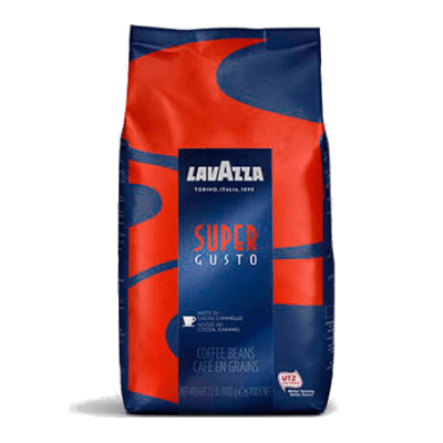kofe zernovoj lavazza super gusto 1.0 g.