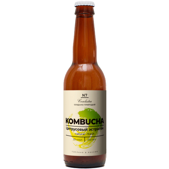 napitok kombucha combutea czitrusovyj estragon 330 ml