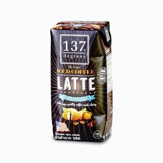 137 degrees kofe latte na mindalnom moloke 180 ml