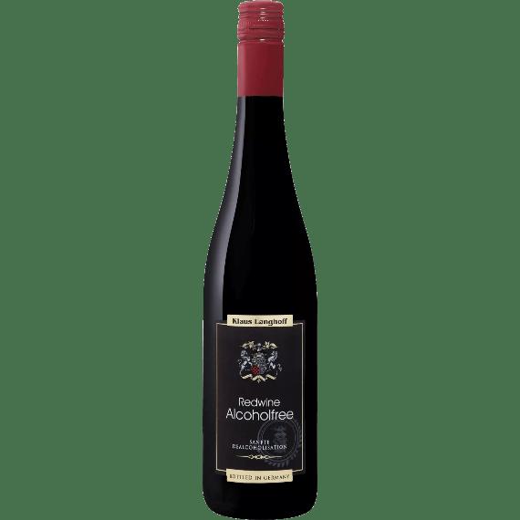 klaus langhoff rotwein bezalkogolnoe krasnoe vino 0.75 l.