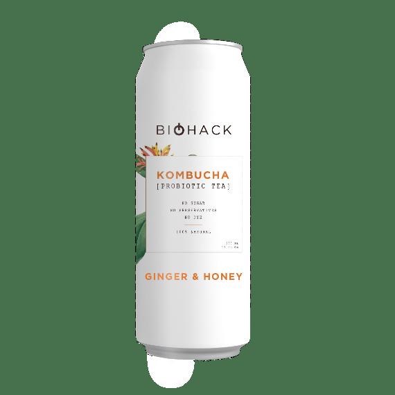 kombucha biohack ginger honey 0.33 l