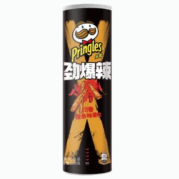 chipsy pringles zakuski s ostrym sachuanskim sousom 110 g
