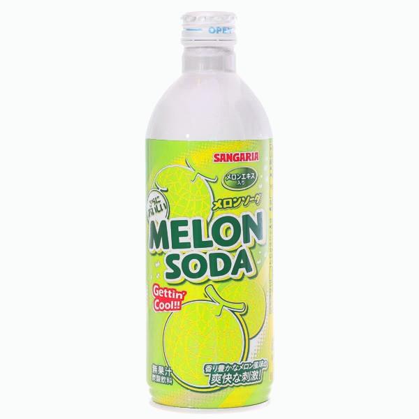 gazirovannyj napitok ramune sangaria melon soda dynya 0.5 l