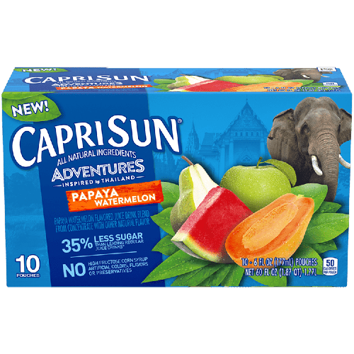sok capri sun papaya watermelon arbuz papajya 0.2 l