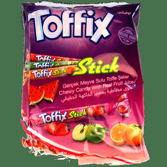 zhevatelnye konfety toffix stick assorti 1000 g.
