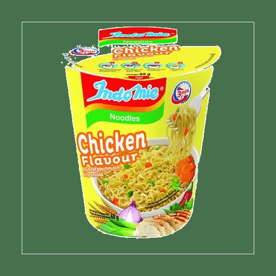 lapsha indomie chicken flavour cup 67 g.