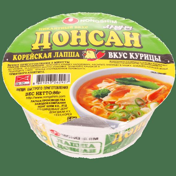 lapsha nongshim shin donsan so vkusom ostroj kuriczy 86 g