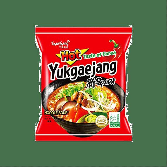lapsha samyang yukgaejang hot mushroom flavor ramen 120 g