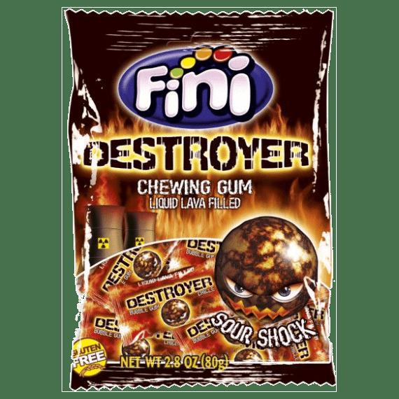 zhevatelnaya rezinka fini destroyer chewing gum 80 g.